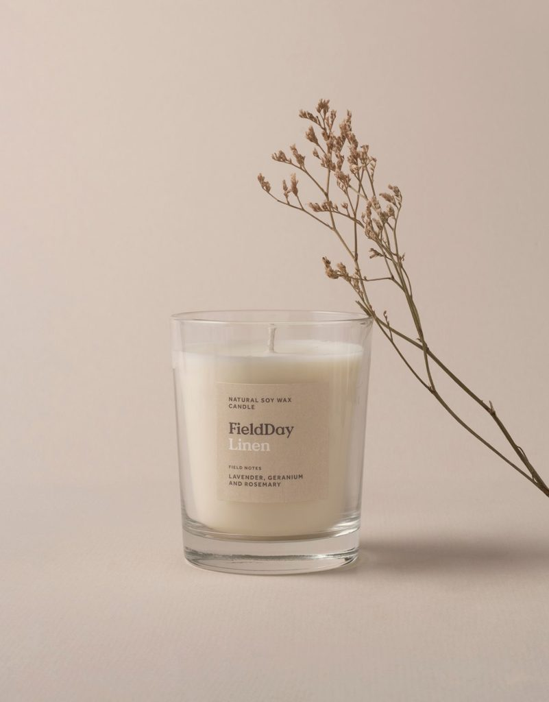 FieldDay Linen Large Candle